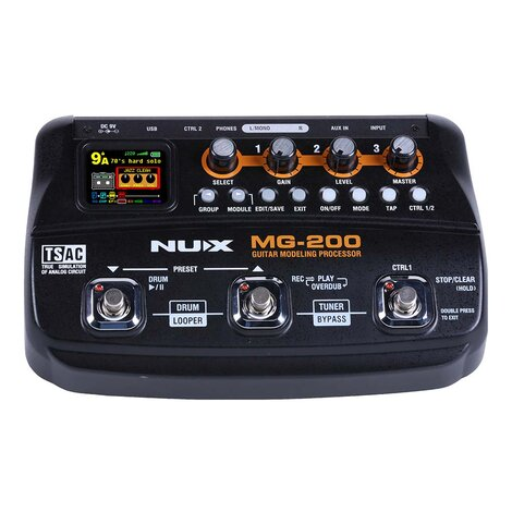 NuX MG200 Guitar Modelling Effects Processor Pedal