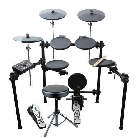 Artist EDK280 8 Piece Electronic Drum Kit with Stool and Headphones