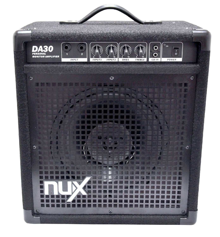 nux da30 30 watt electronic drum monitor amplifier. Black Bedroom Furniture Sets. Home Design Ideas