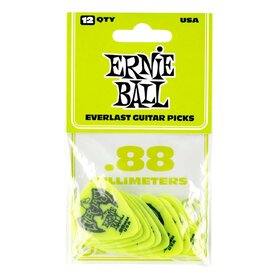 Ernie Ball E9191 Green Everlast Delrin Picks .88mm- 12 pack