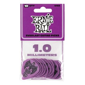 Ernie Ball E9193 Purple Everlast Delrin Picks 1.0mm- 12 pack