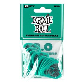 Ernie Ball E9196 TealEverlast Delrin Picks 2.0mm- 12 pack