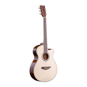 Customer Returned Factory 2nd Artist LSPSCEQNTL Left Handed Small Body Acoustic Guitar