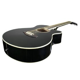 Customer Returned Artist LSPSBK Small Body Beginner Acoustic Guitar Pack Black