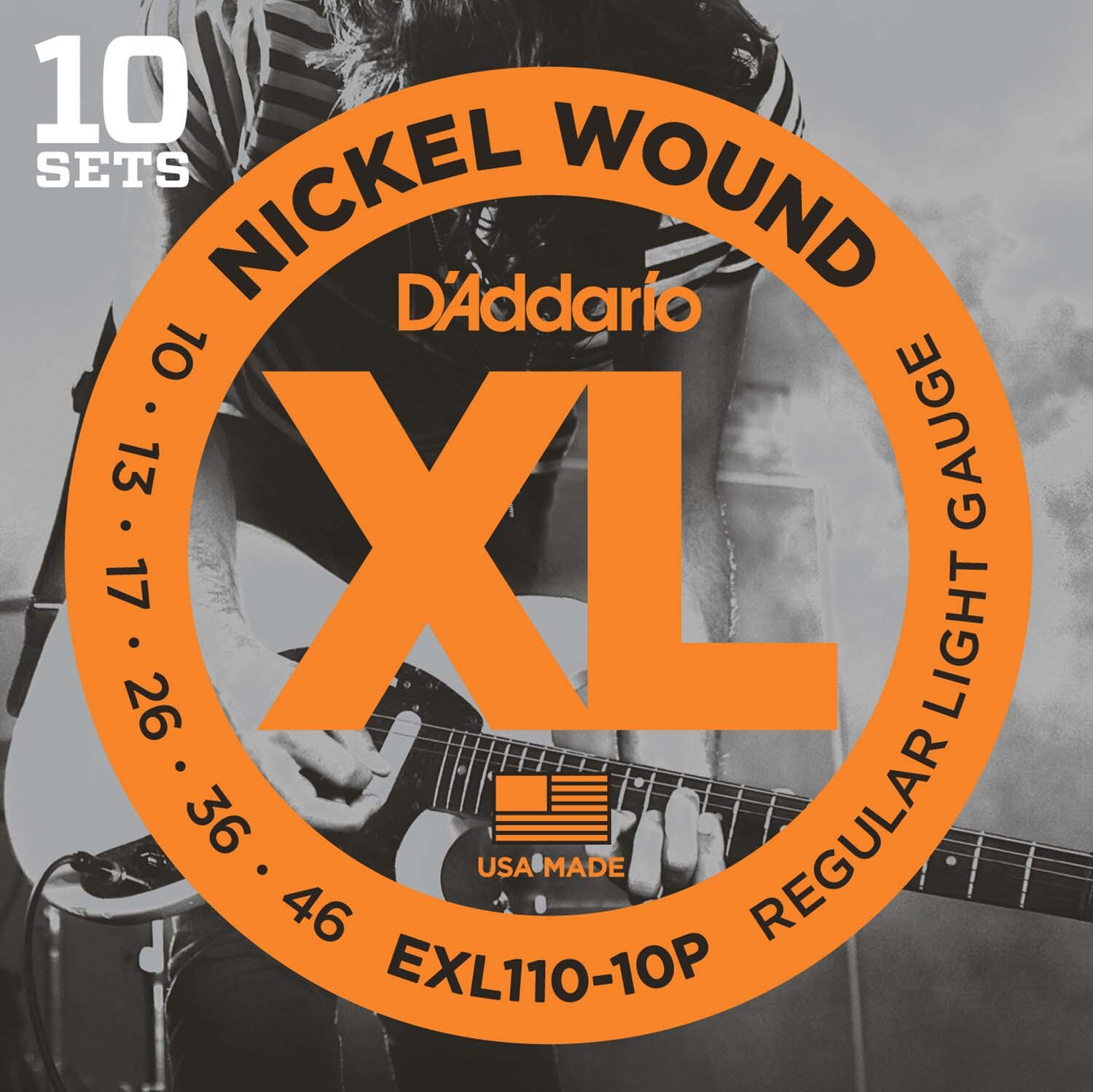 D'Addario EXL110 Electric Guitar Strings  Light 10-46 - 10 Sets