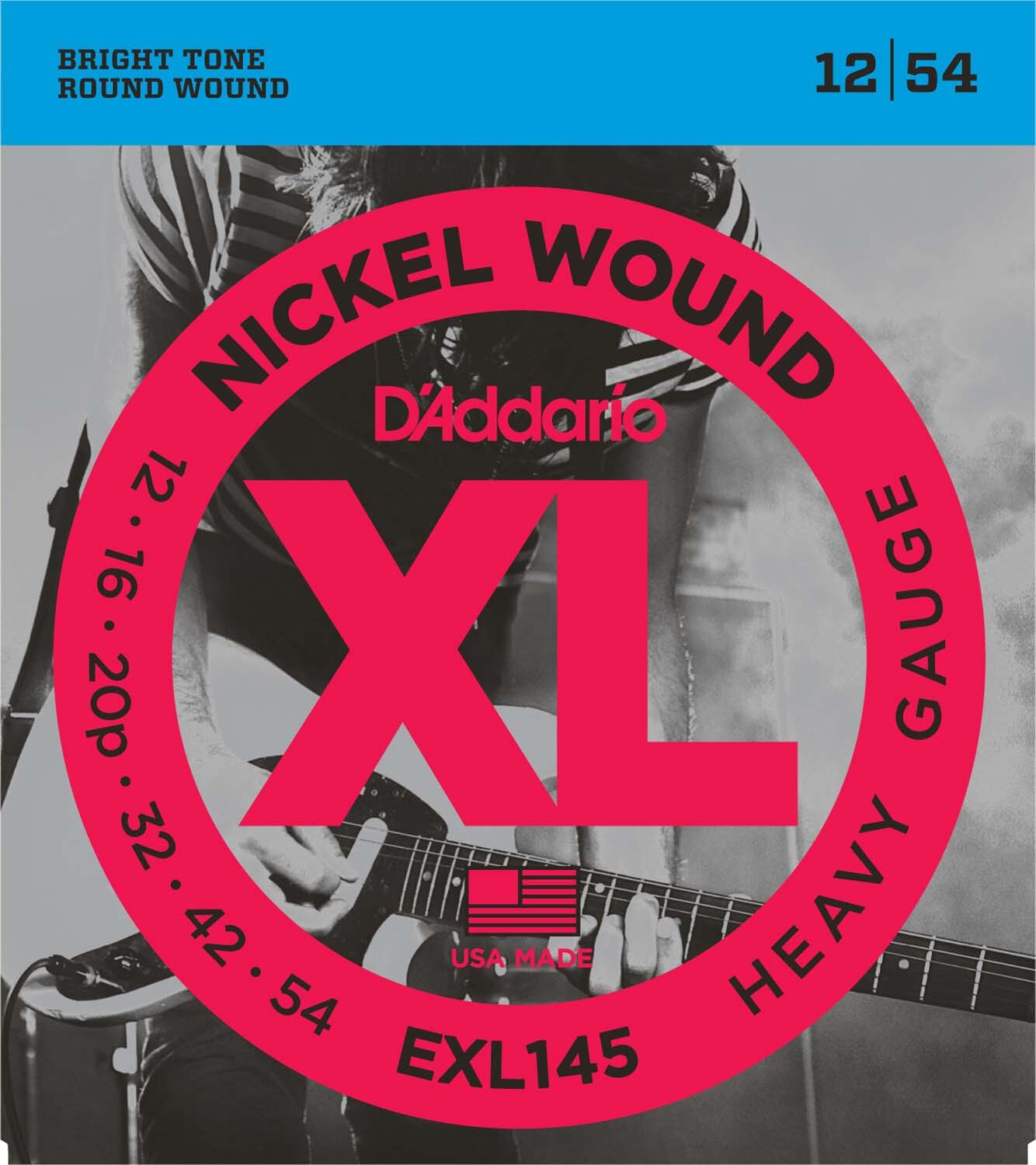 D'Addario EXL145 Electric Guitar Strings Heavy 12-54