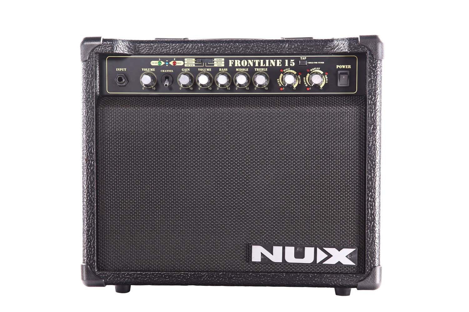 nux frontline 15 guitar combo amplifier 15w mic and aux inputs nux. Black Bedroom Furniture Sets. Home Design Ideas