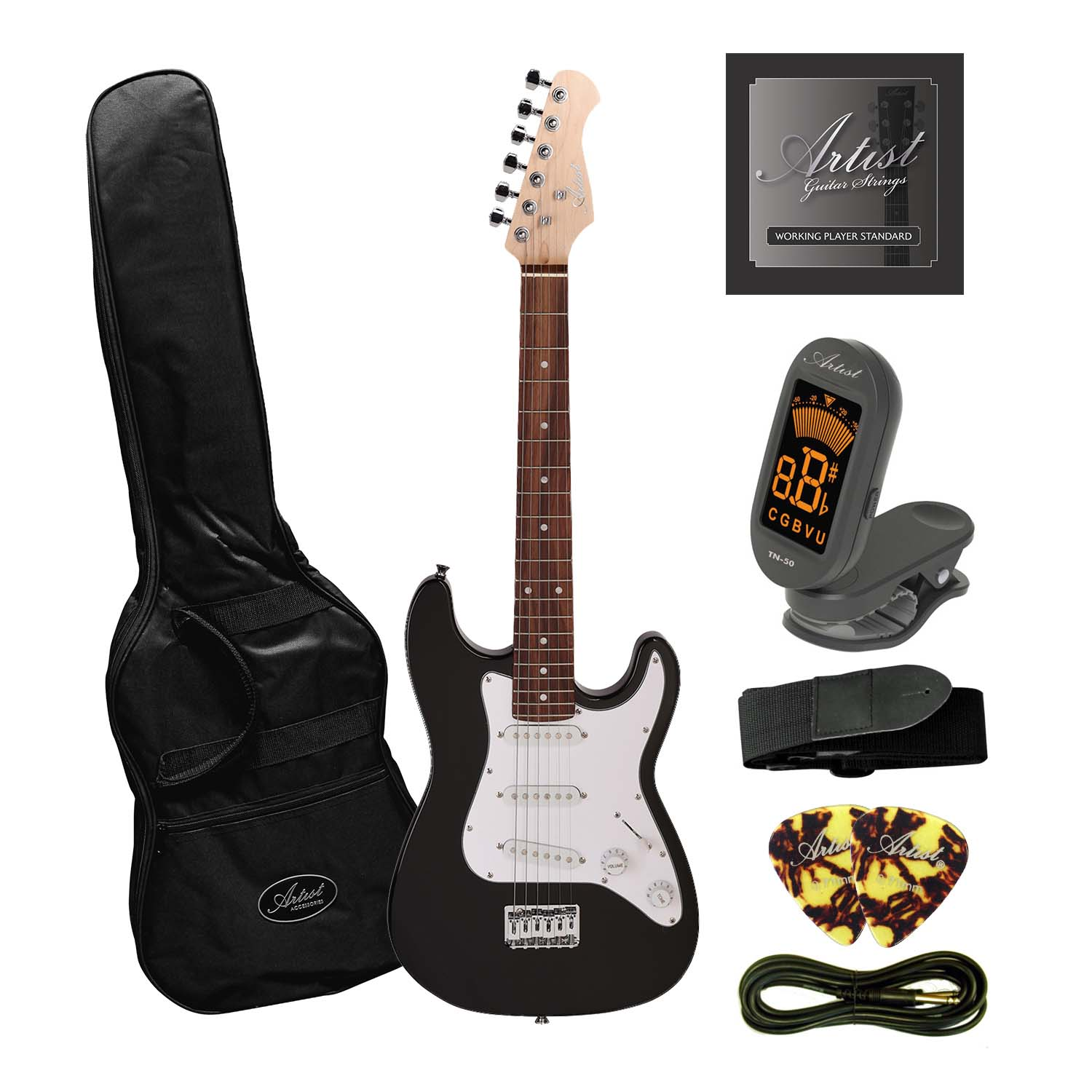Artist MiniS Plus - 3/4 Size Small Body Electric Guitar + Accessories