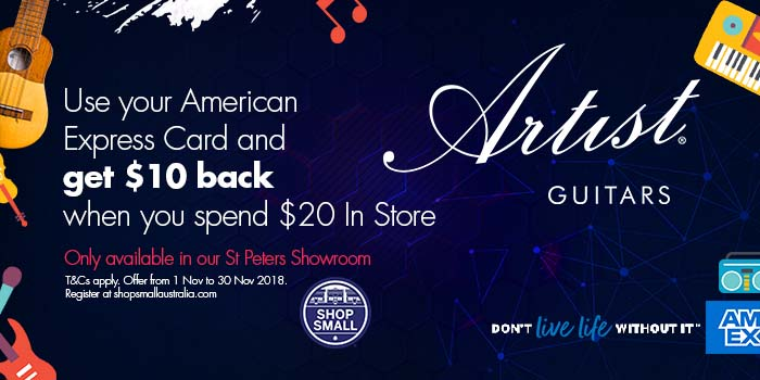 AMEX and Artist Guitars - Shop Small Promotion