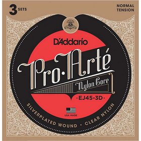 D'Addario EJ45 Pro Arte Nylon Classical Guitar Strings, 3 Sets