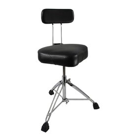 Artist GD6 Drum Throne - Bike Seat Style + Back Rest