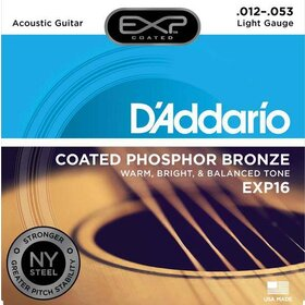D'Addario EXP16 Coated Acoustic Guitar Strings NY Steel Core 12-53