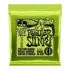 Ernie Ball 3221 3 Sets of Electric Guitar Strings Regular Slinky 10-46