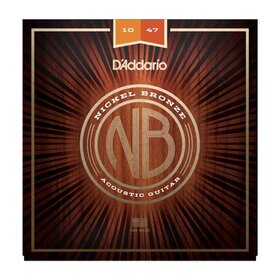 Daddario NB1047 Nickel Bronze Acoustic Guitar Strings Extra Light 10-47