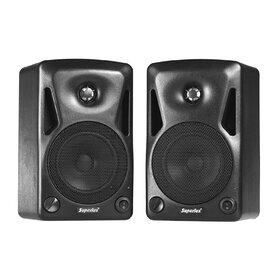 Superlux BES5A Pair of 5-Inch 2-Way 70Watt Active Studio Monitors