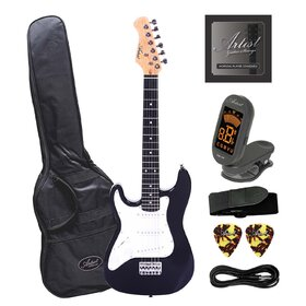 Artist MiniS Plus Left Handed 3/4 Sized Electric Guitar + Accessories