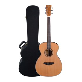 Artist OMC200EQ Solid Top Acoustic Guitar OM Size with EQ with Case