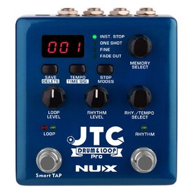 Nux JTCPRO Drum & Loop PRO Dual Switch Looper Pedal