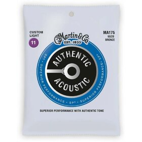 Martin MA175 80/20 Bronze Light Acoustic Guitar Strings 11-52