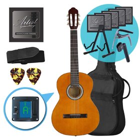 Artist CL44AML Left Handed Full Size Classical Guitar Ultimate Pack