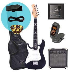 Artist MiniS Plus Left Handed 3/4 Electric Guitar + Accessories + Amp