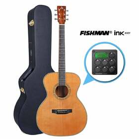 Artist OMC500IB Solid Wood Acoustic with Fishman Ink with Body Sensor