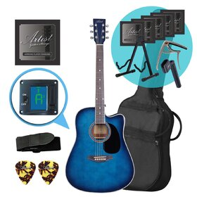 Artist LSPCTB-UPK Blue Beginner Acoustic Guitar Ultimate Pack