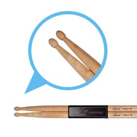Artist DSM2B Maple Drumsticks with Wooden Tips