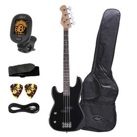 Artist PB2L Left Hand Black Electric Bass Guitar