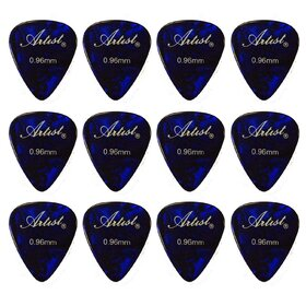 Artist AP12A0.96 Blue Celluloid Guitar Picks - 0.96mm/ 12 Pack