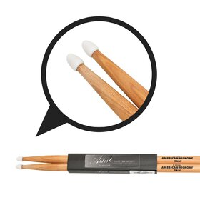 Artist DSH5AN Hickory 5A Drumsticks with Nylon Tips