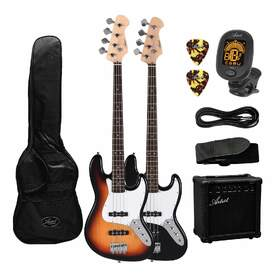 Artist JB2 Electric Bass Guitar Plus Accessories with 15 Watt Amp