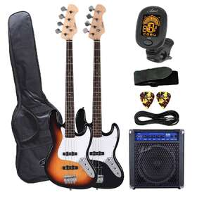 Artist JB2 Electric Bass Guitar Plus Accessories with 30 watt amp