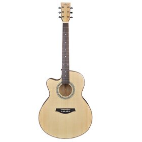 Artist JB300NTL Left Handed Solid Top Acoustic Guitar Jumbo + EQ