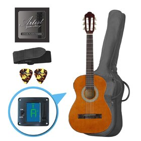 Customer Returned Artist CL12AM 1/2 Size Classical Guitar Pack, Nylon String - Amber