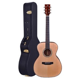 Customer Returned Artist OMS10EQ Solid Wood OM Size Acoustic Guitar + EQ + Case