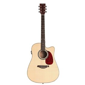 Factory 2nd Artist DS120CEQ Acoustic Guitar, Solid Spruce Top Dreadnought with EQ