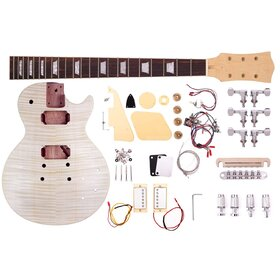 Factory 2nd Artist LPFDIY Classic Flame Do it Yourself Guitar Kit