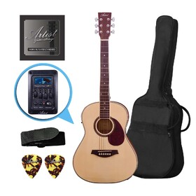Factory 2nd Artist LSP34EQ 3/4 Sized Beginner Acoustic Guitar Pack with EQ