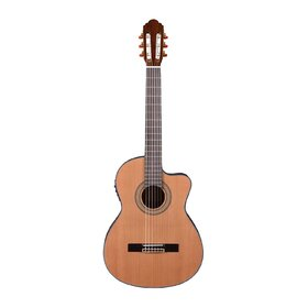 Factory 2nd Artist HG39303CEQ Classical Guitar Solid Cedar Top + Cutaway and EQ