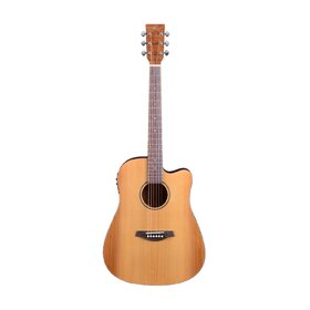 Factory 2nd Artist DCA100CEQ Solid Top Dreadnought Acoustic Electric Guitar