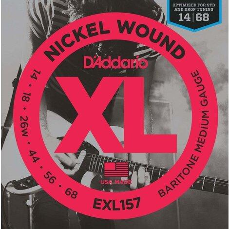 D'Addario EXL157 Electric Baritone Guitar Strings Med 14-68