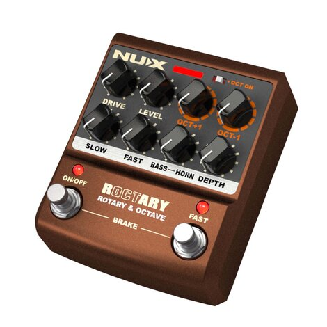 NuX Roctary Force Rotary and Octave Guitar Effects Pedal
