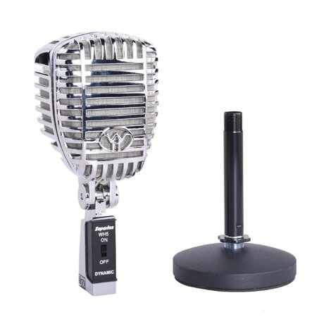 Superlux WH5 Classic Dynamic Vocal Microphone with Desk Stand