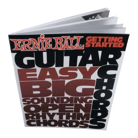 Ernie Ball E7010 Getting Started Guitar Chords Book