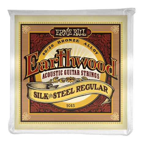 Ernie Ball 2043 Silk & Steel Regular 80/20 Acoustic Strings 13-56
