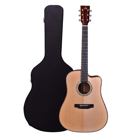 Artist DRS10EQ Solid Wood Dreadnought Acoustic Guitar + EQ + Case