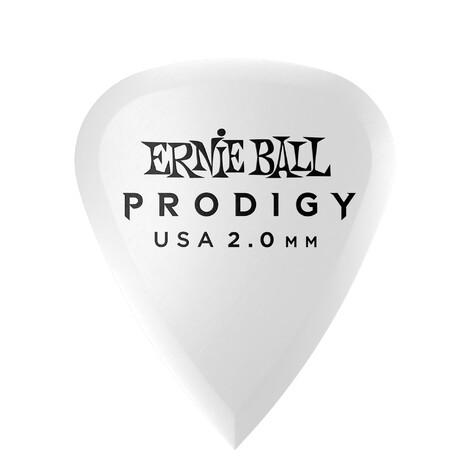 Ernie Ball E9202 White Standard Prodigy Picks 2.0mm - 6 Pack