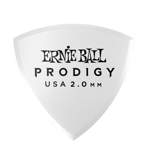 Ernie Ball E9337 White Shield Prodigy Picks 2.0mm - 6 Pack