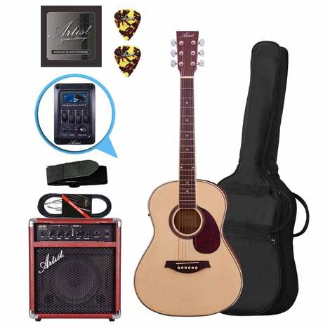 Artist LSP34EQ 3/4 Beginner Acoustic Pack with EQ + AC20 Amp and Lead